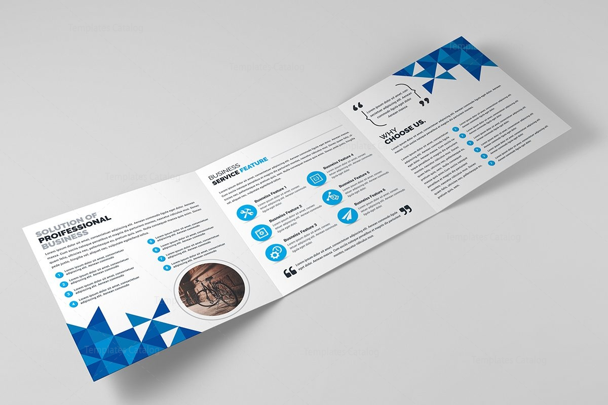 classy brochure design - classy elegant corporate tri fold brochure template 000658