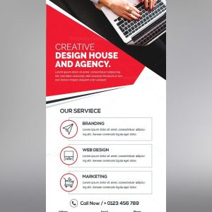 Clean Stylish Roll-Up Banner Template