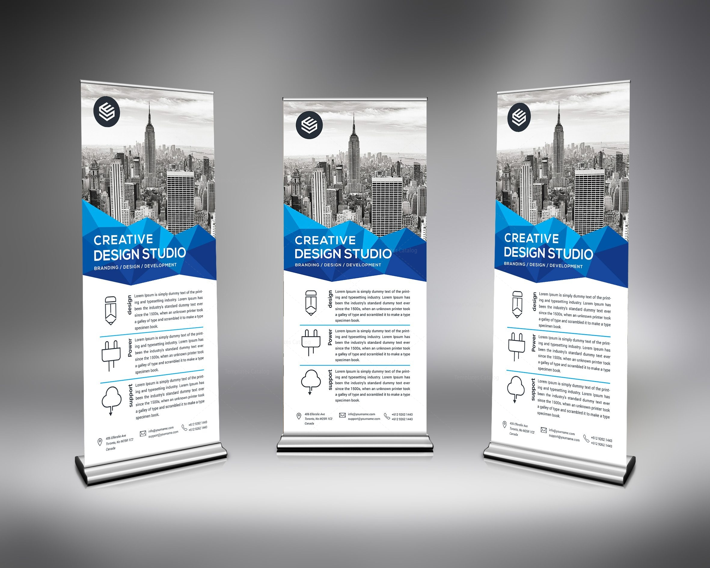 Corporate Store Roll-up Banner Template 000678
