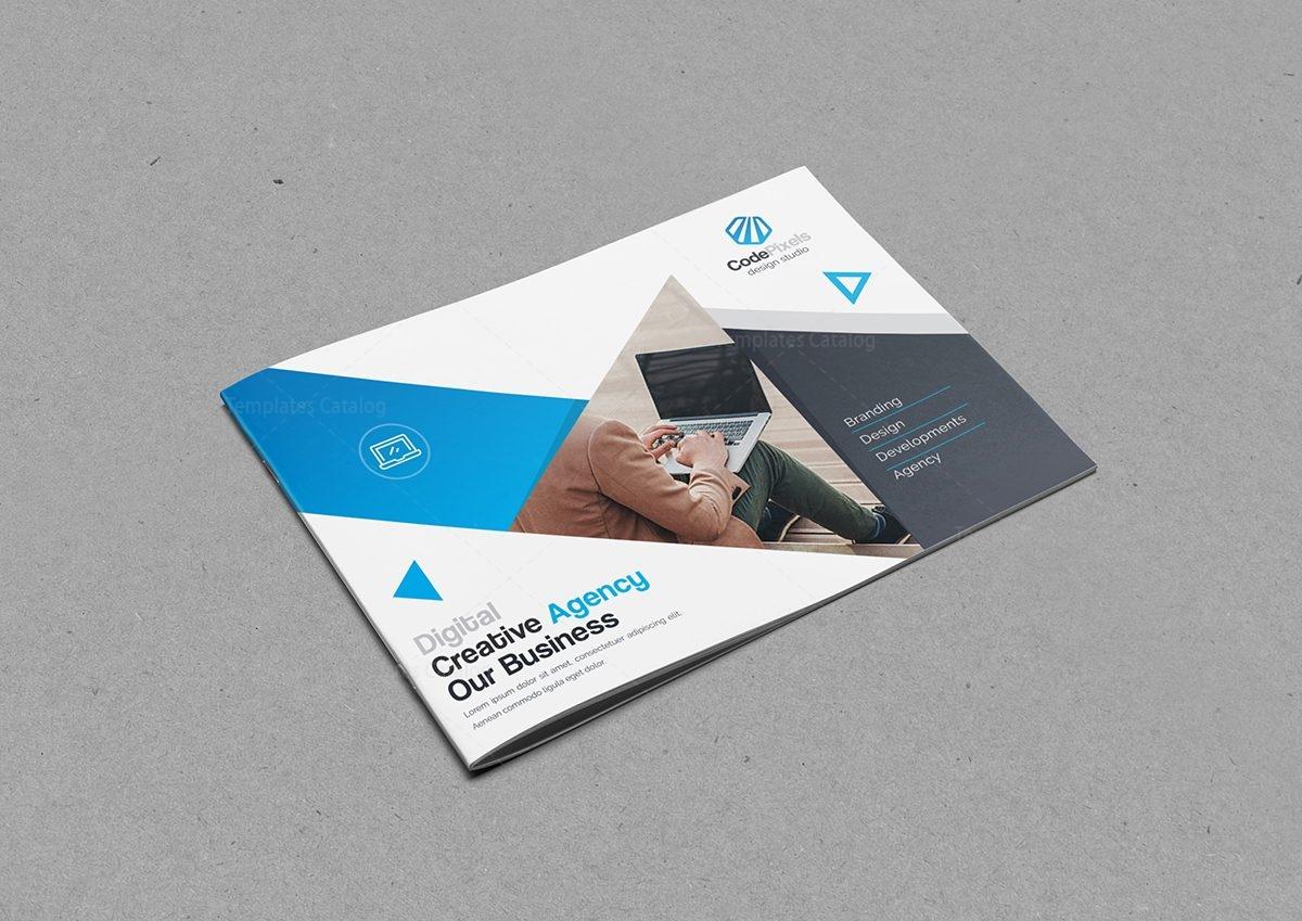 Creative Business Landscape Brochure Template Template - Digital brochure templates