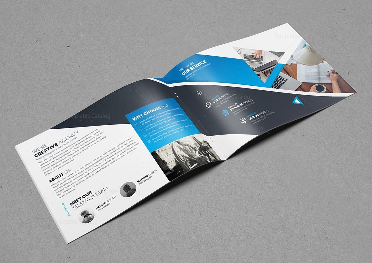 custom brochure design - creative business landscape brochure template 0006014