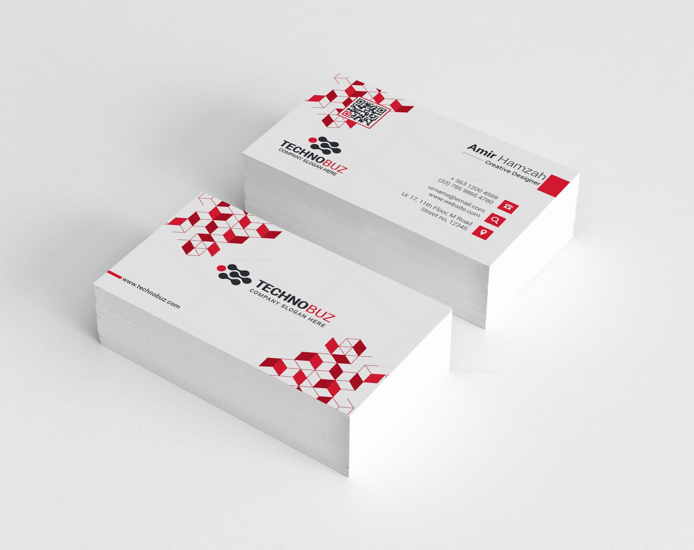 cubes premium elegant business card template 000810