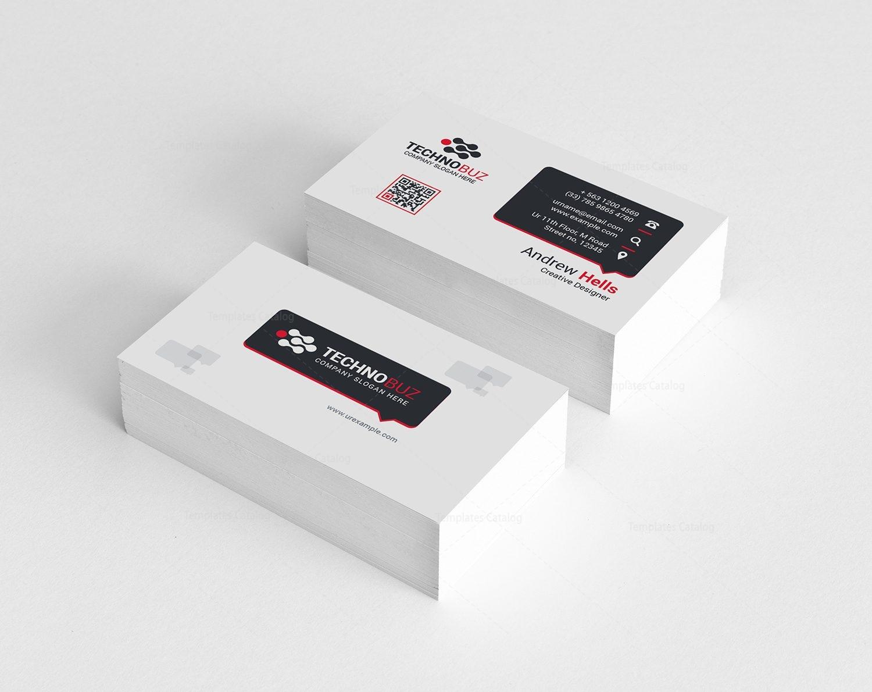 Dahlia Premium Business Card Design Template 000784 - Template Catalog