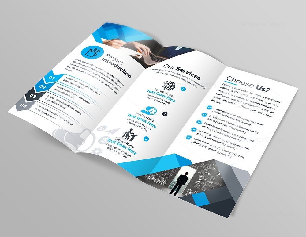 Design studio modern tri fold brochure template 000749 for Typography brochure design