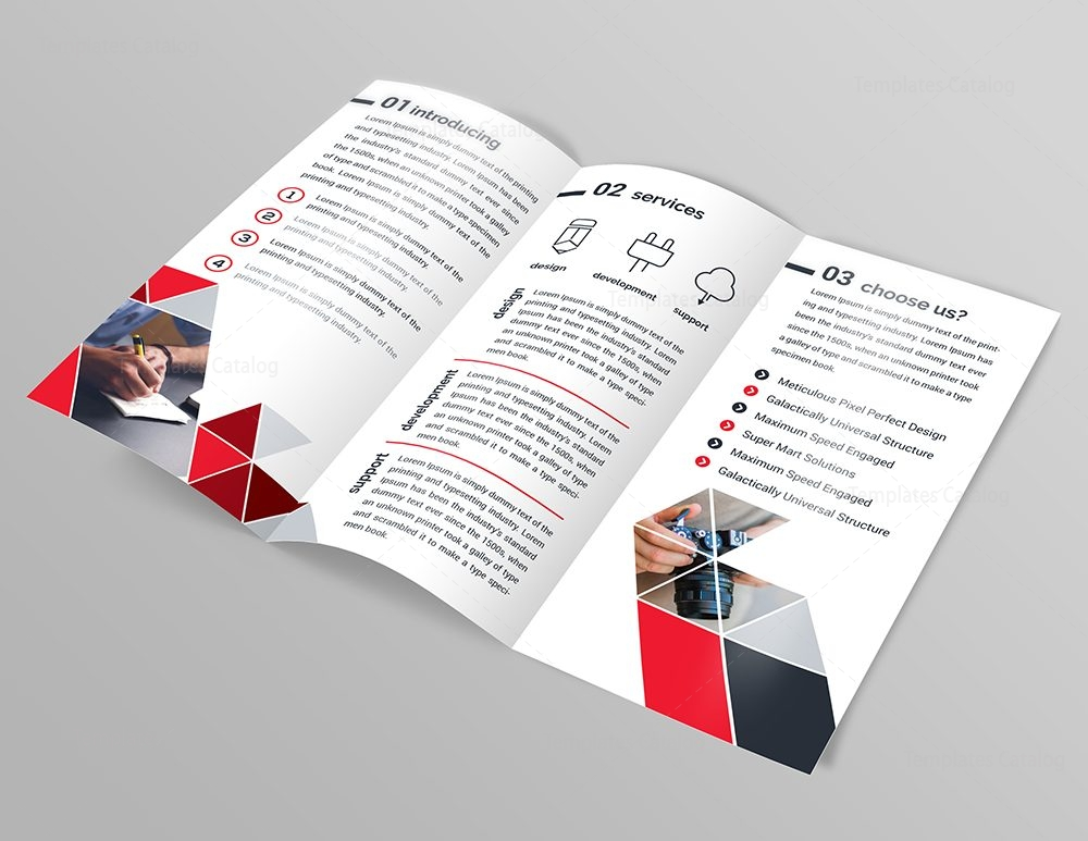 Diamond classy tri fold brochure template 000747 for Folded brochure template