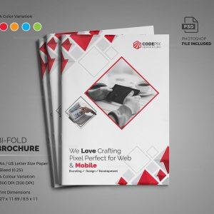 Diamond Modern Bi-Fold Brochure Template