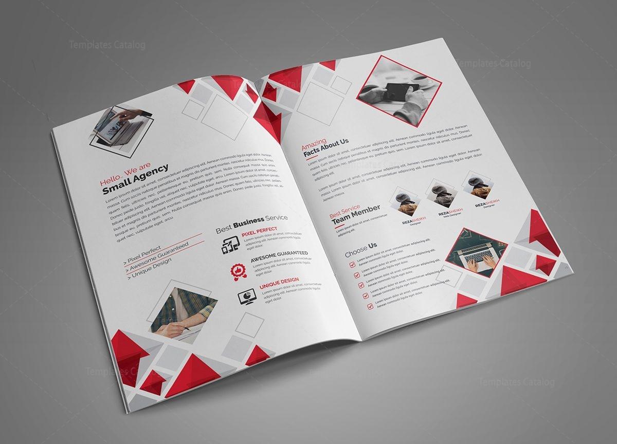diamond modern bi fold brochure template 2
