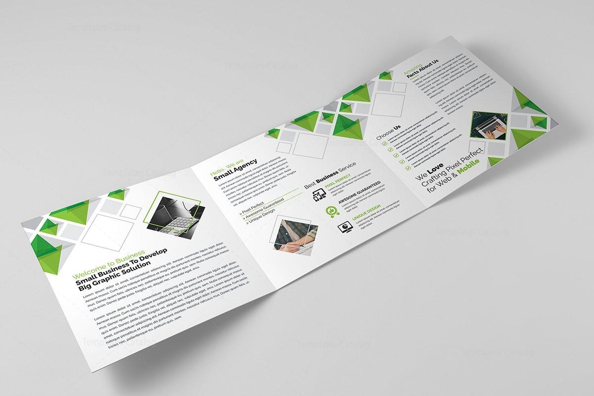 eclipse modern tri fold brochure template 11