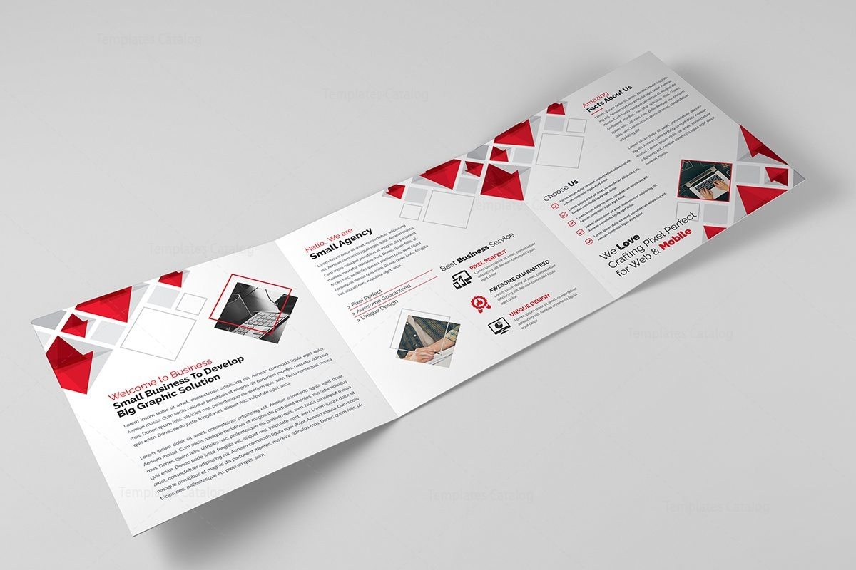 2 fold brochure template - eclipse modern tri fold brochure template 000674