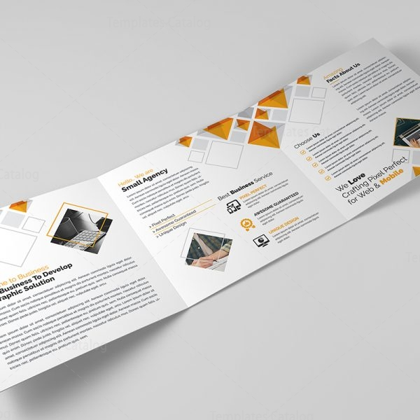 Eclipse Modern Tri-Fold Brochure Template 5