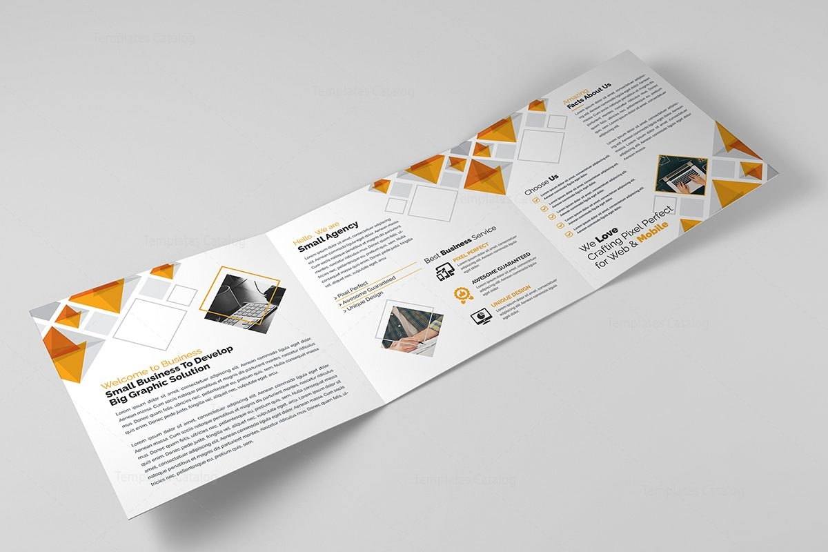 Eclipse Modern TriFold Brochure Template Template Catalog - Modern brochure template