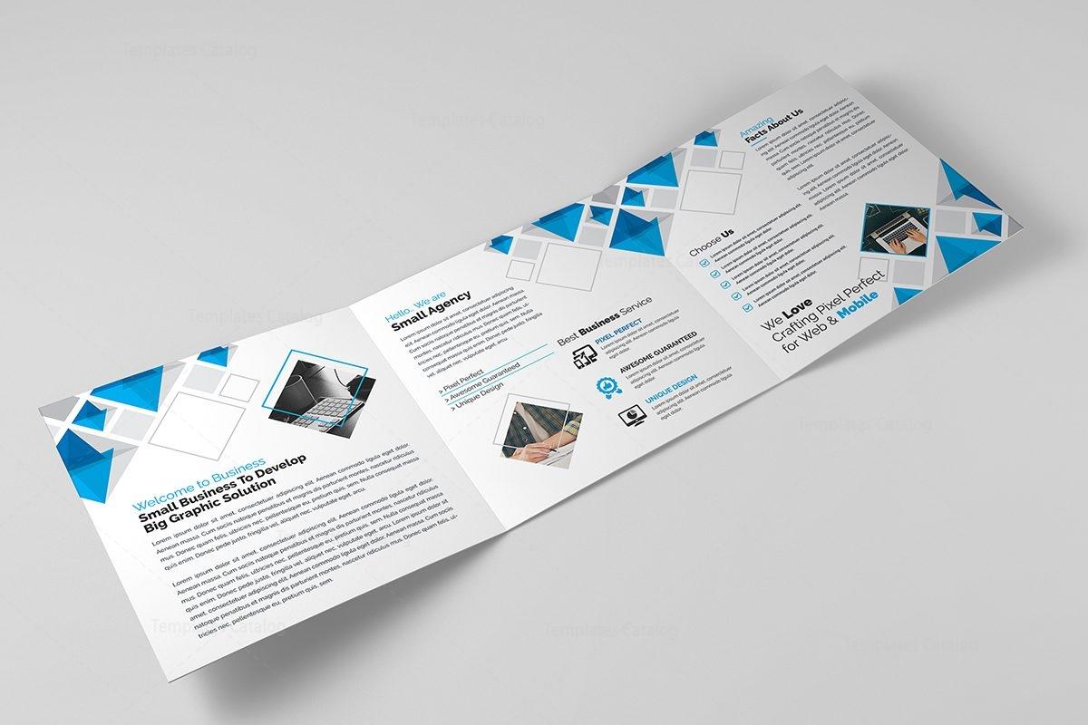 eclipse modern tri fold brochure template 8