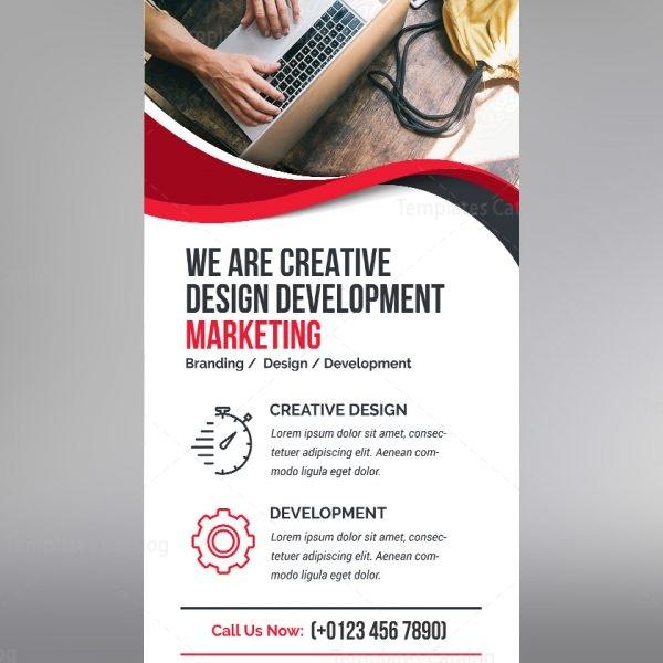 Elegant PSD Roll-Up Banner Template 000690 - Template Catalog