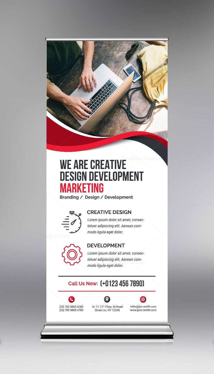 Elegant PSD Roll-Up Banner Template 000690 - Template Catalog