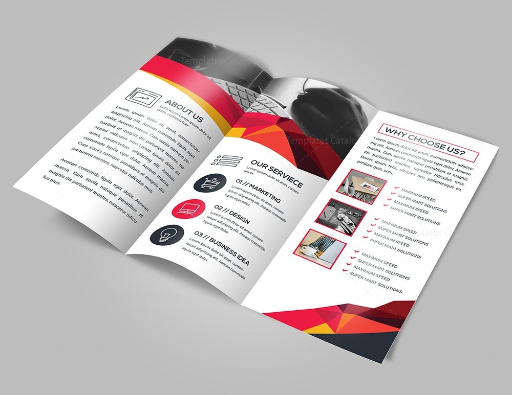 Elegant tri fold brochure template with modern design for Elegant brochure templates