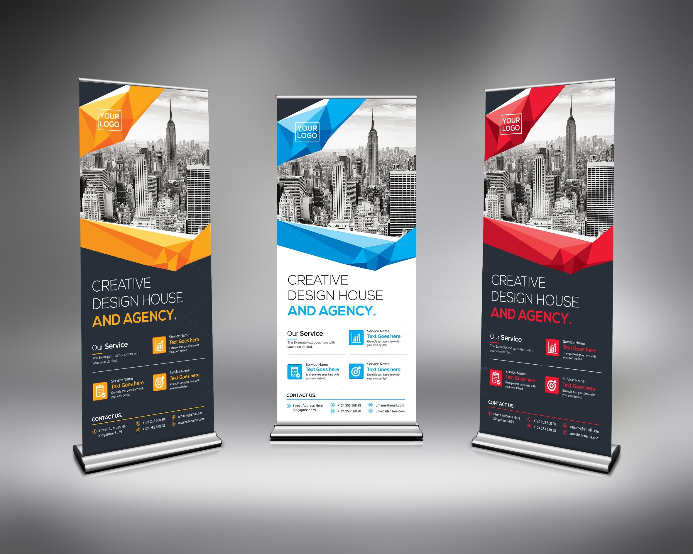 Home Design Free Catalog Excellent Rollup Banner Template 000632 Template Catalog