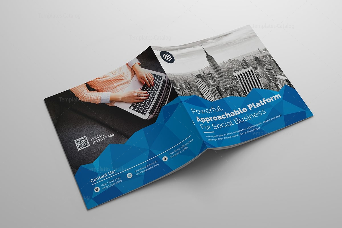Excellent Square Corporate Brochure Template Template Catalog - Corporate brochure template