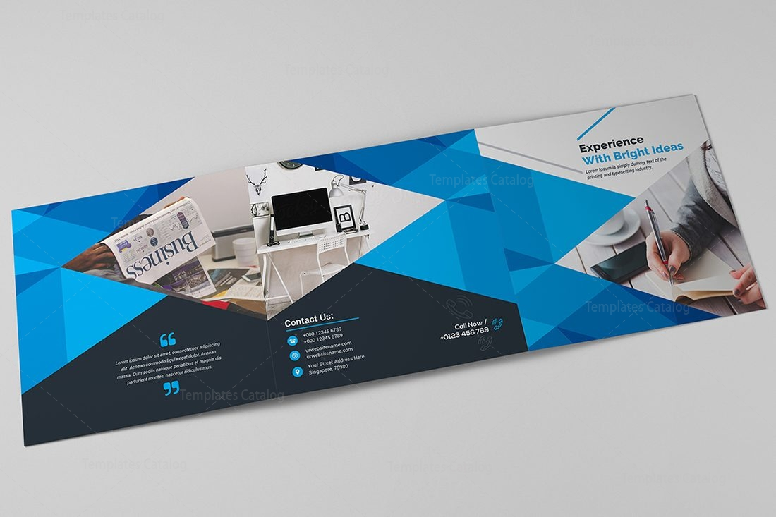corporate brochure template - excellent tri fold corporate brochure template 000656