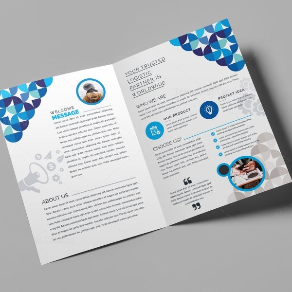 Fancy BiFold Brochure Template   Template Catalog