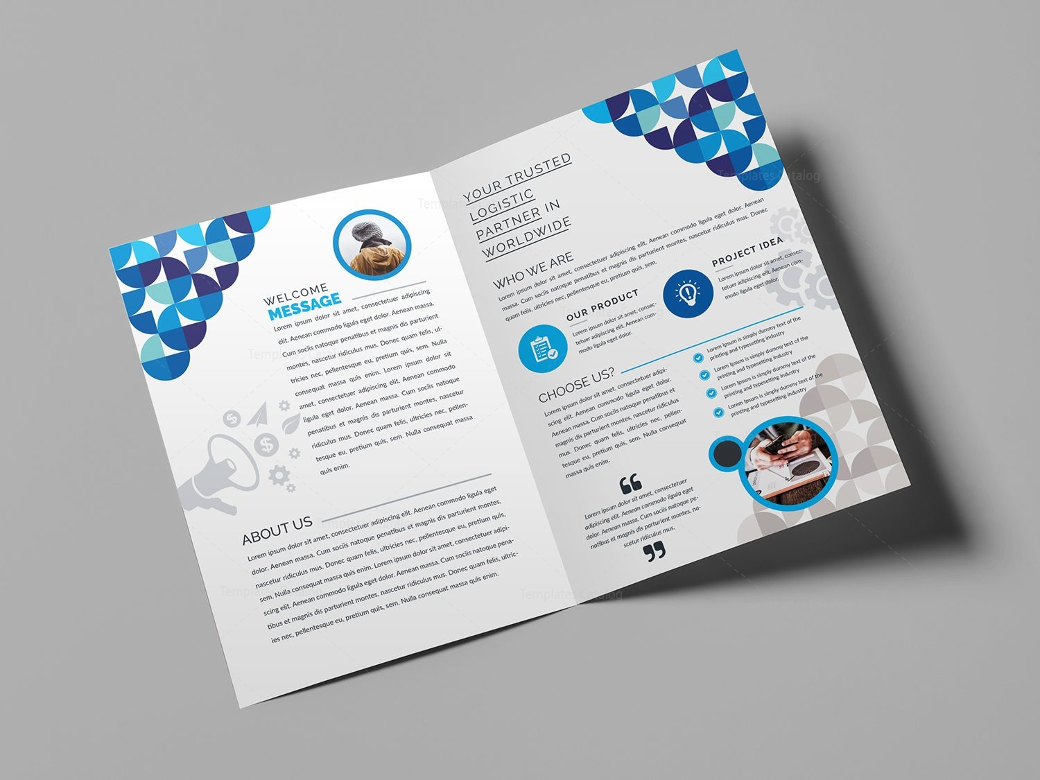 Fancy BiFold Brochure Template Template Catalog - Foldable brochure template
