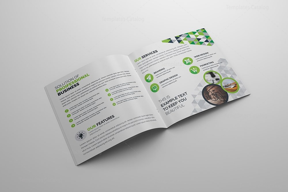 Fancy Corporate BiFold Brochure Template Template Catalog - Fancy brochure templates