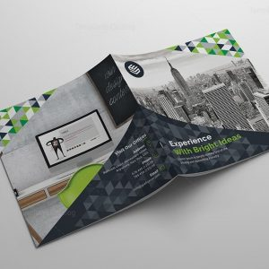 Fancy Corporate Bi-Fold Brochure Template