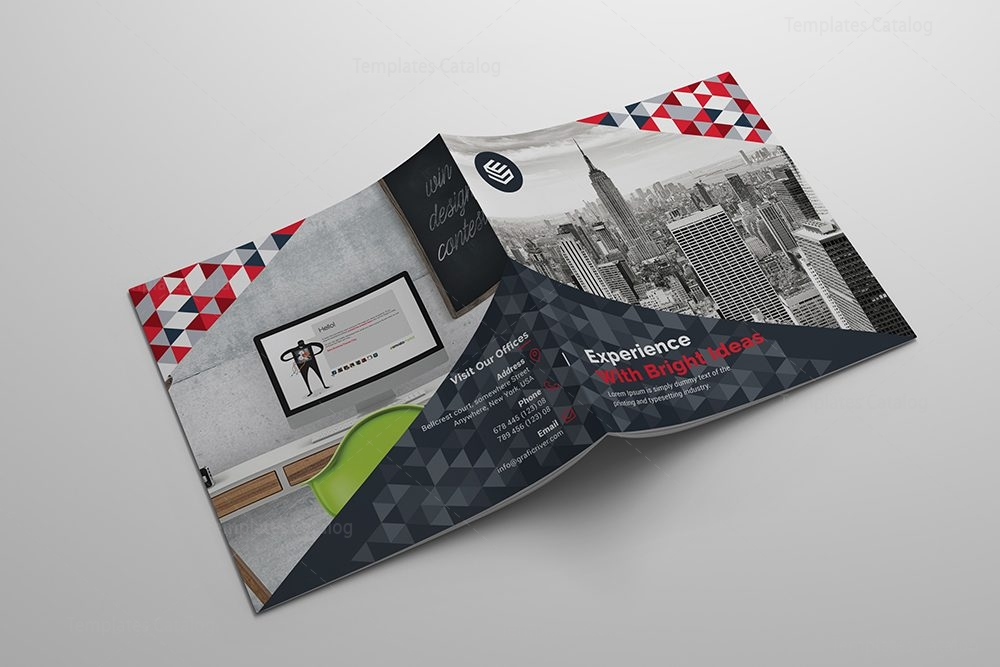 Fancy corporate bi fold brochure template 000797 for Fancy brochure templates