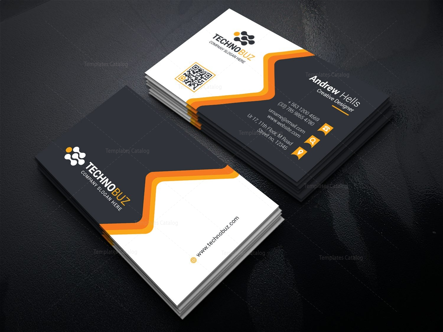 Fancy premium business card template 000741 template catalog fancy premium business card template 3 wajeb