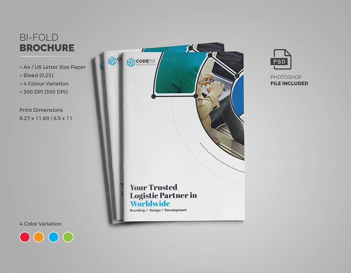 Fancy stylish bi fold brochure template 1 template catalog for Fancy brochure templates