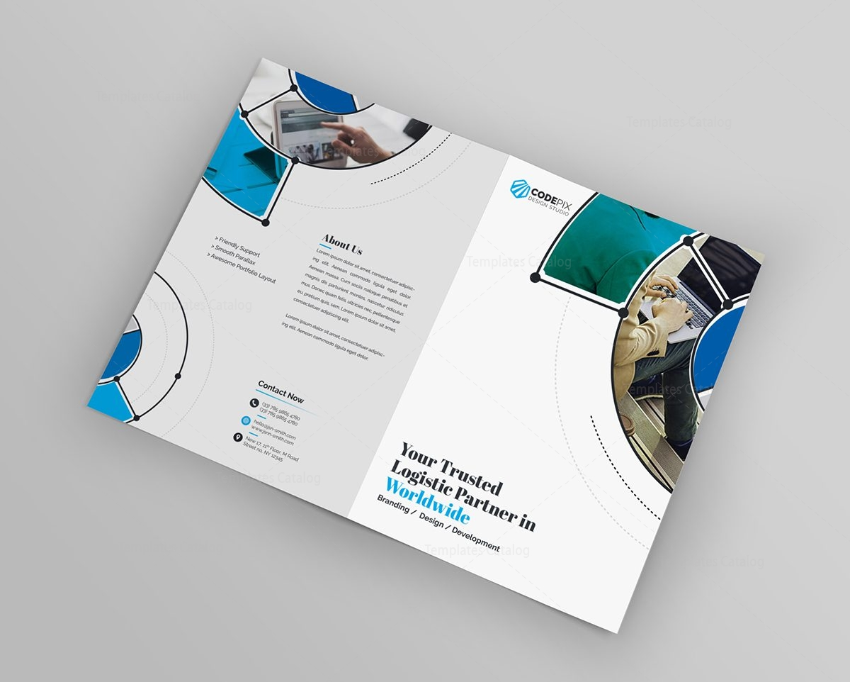 Fancy stylish bi fold brochure template 13 template catalog for Fancy brochure templates