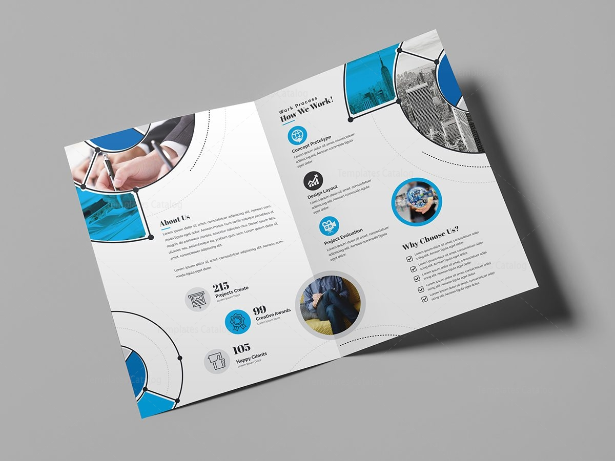 Fancy stylish bi fold brochure template 14 template catalog for Fancy brochure templates