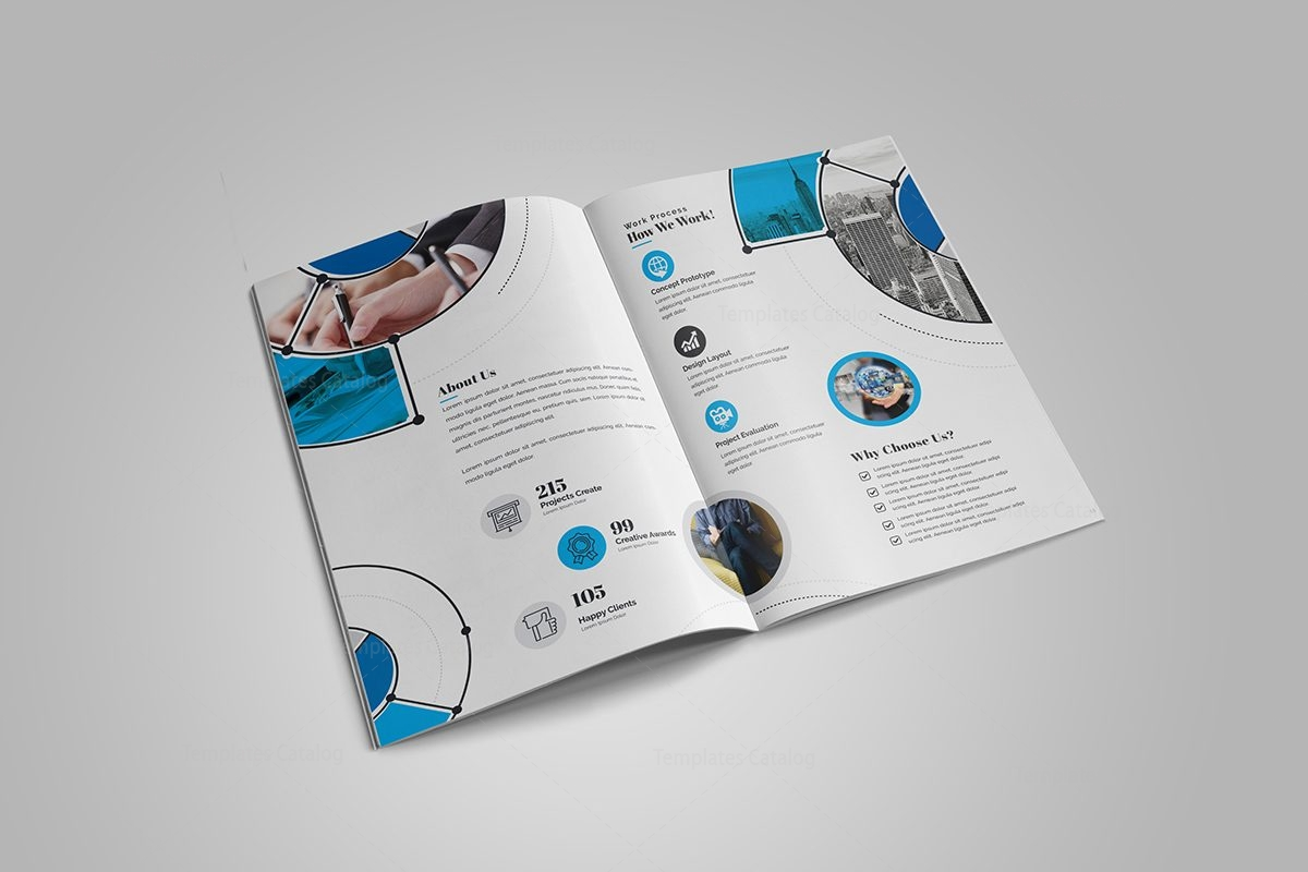 Fancy stylish bi fold brochure template 2 template catalog for Pop up brochure template
