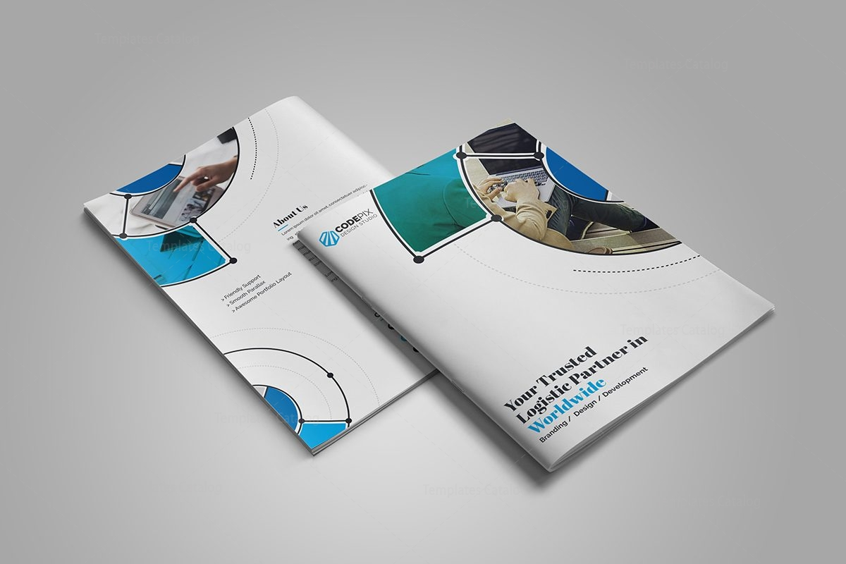 Fancy stylish bi fold brochure template 000727 template for Fancy brochure templates