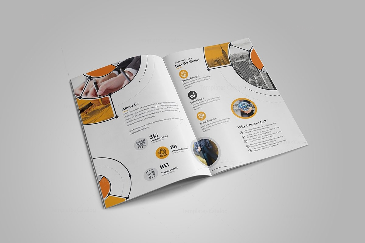 Fancy stylish bi fold brochure template 5 template catalog for Fancy brochure templates