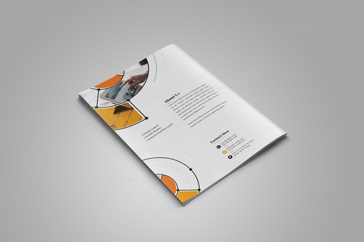 Fancy stylish bi fold brochure template 6 template catalog for Fancy brochure templates