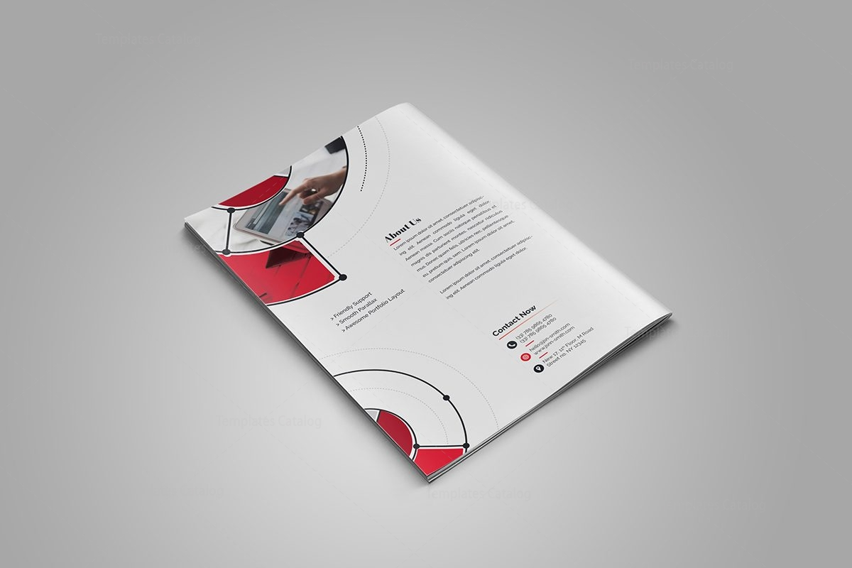 Fancy Stylish BiFold Brochure Template Template Catalog - Fancy brochure templates