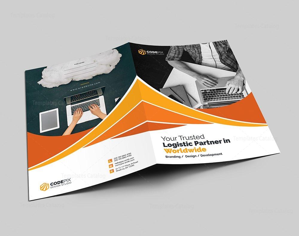 first class presentation folder template 000602 - template catalog, Presentation templates