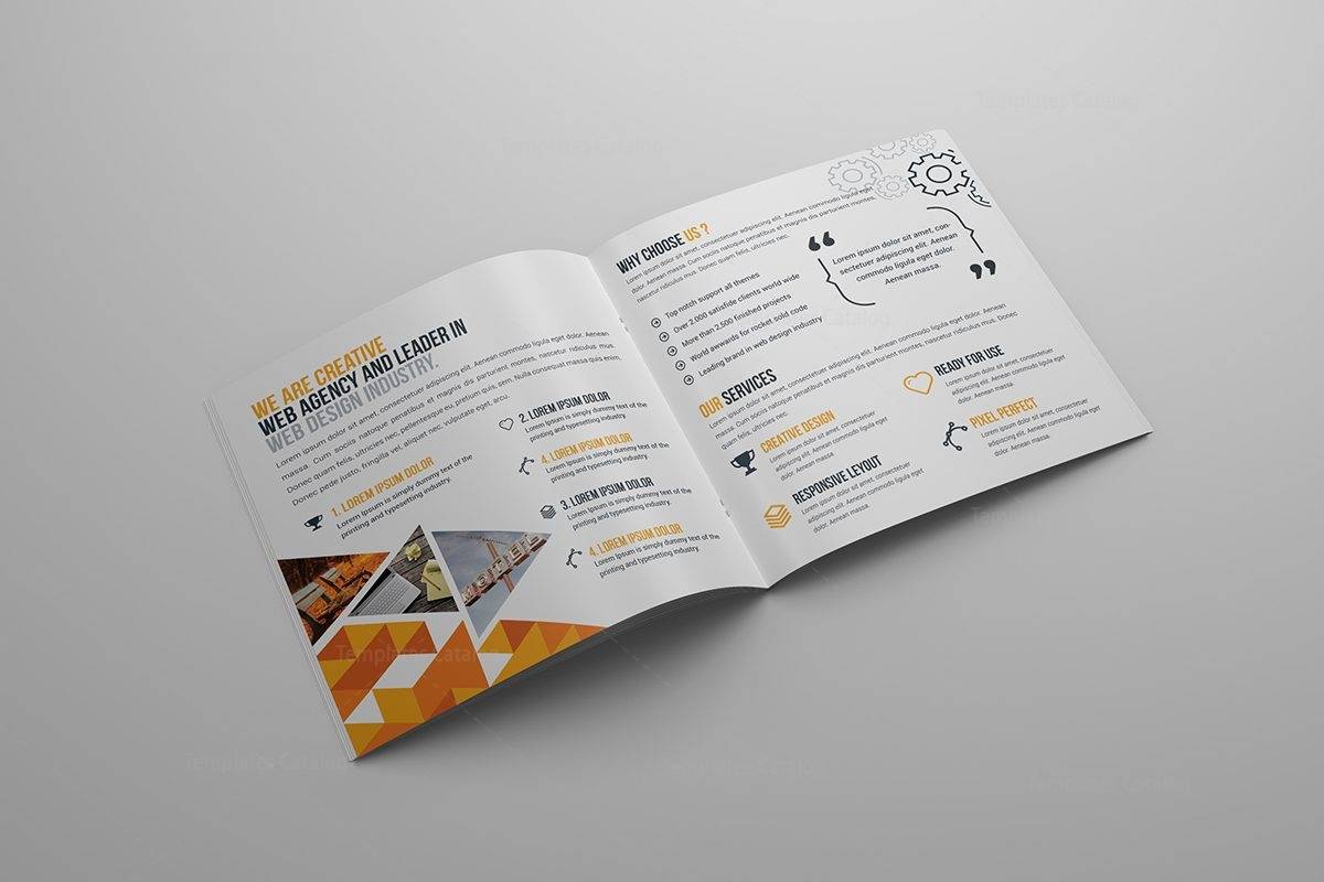 First Class Square Brochure Template