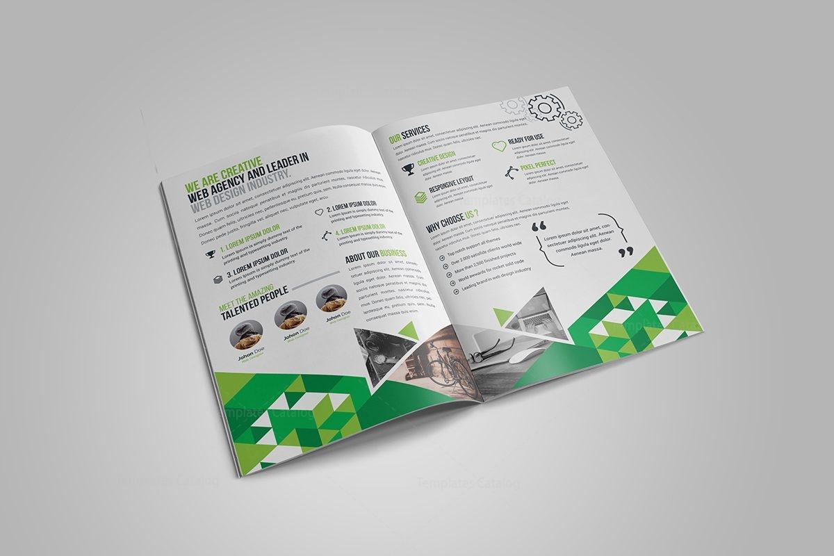 Gem Corporate BiFold Brochure Template Template Catalog - Bi fold brochure templates
