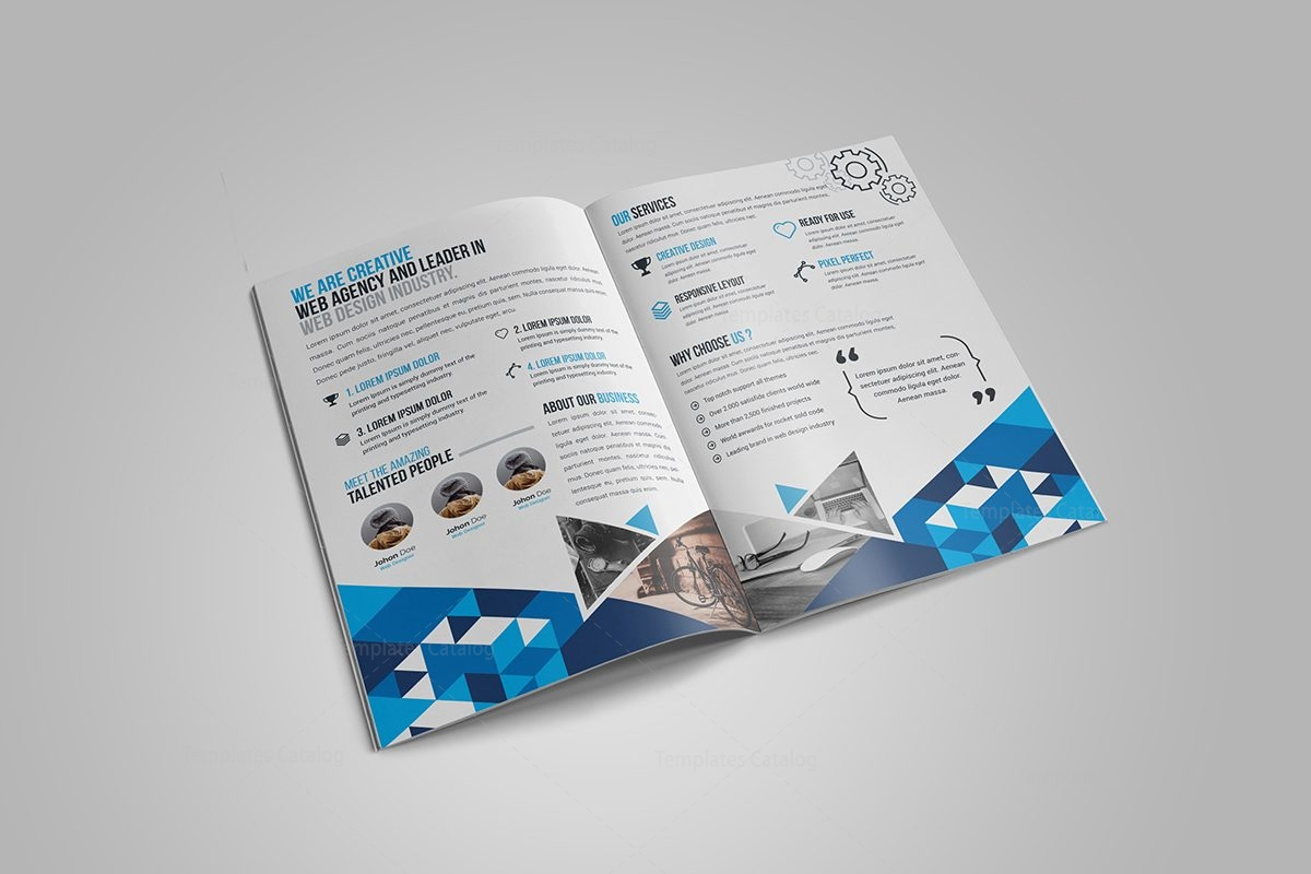 Gem corporate bi fold brochure template 000720 template for Corporate bi fold brochure template