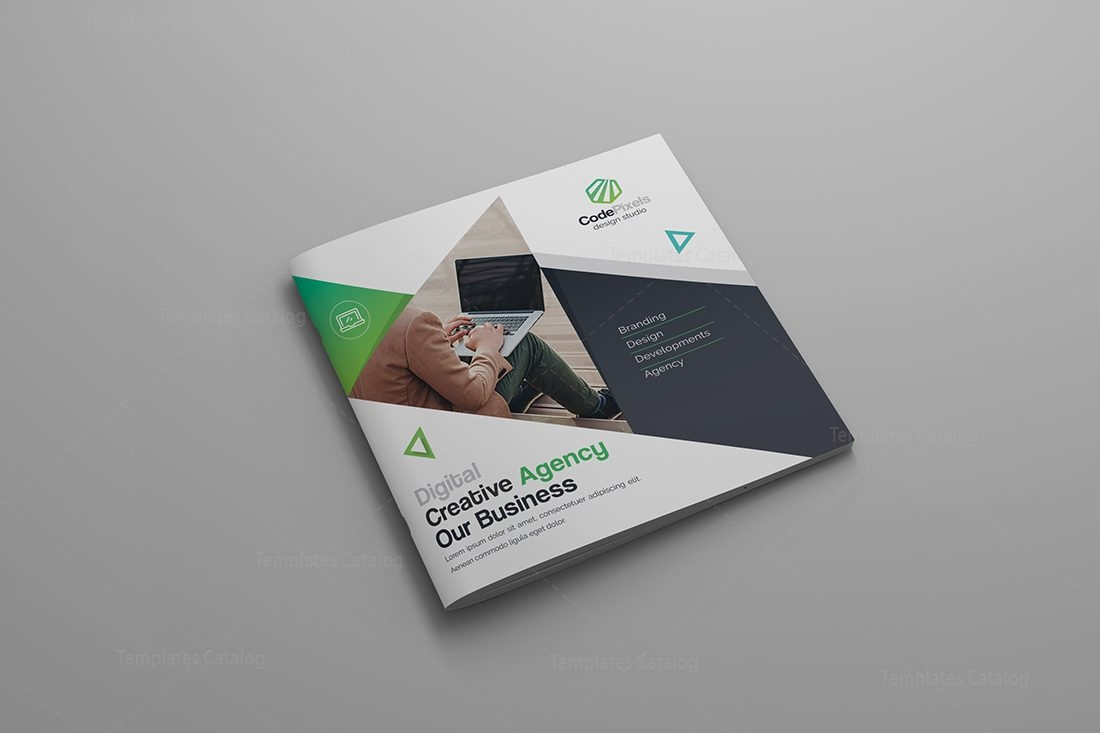 Gemini Premium Square BiFold Brochure Template Template - Digital brochure templates