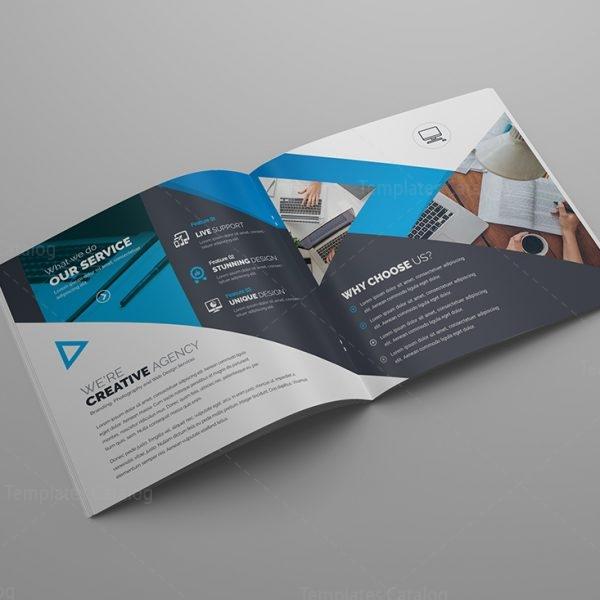 Gemini Premium Square Bi Fold Brochure Template 000807 Template