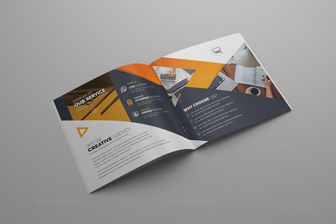 Gemini Premium Square BiFold Brochure Template Template - 5 fold brochure template