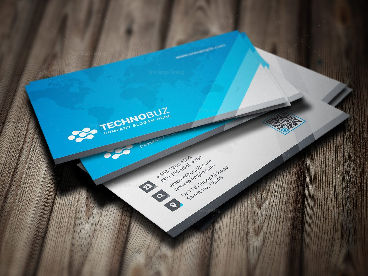 Global Premium Business Card Template 000786 - Template Catalog