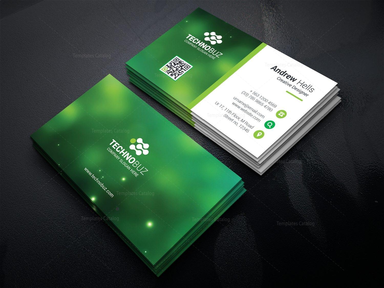 green technology business card template 000756 template catalog. Black Bedroom Furniture Sets. Home Design Ideas