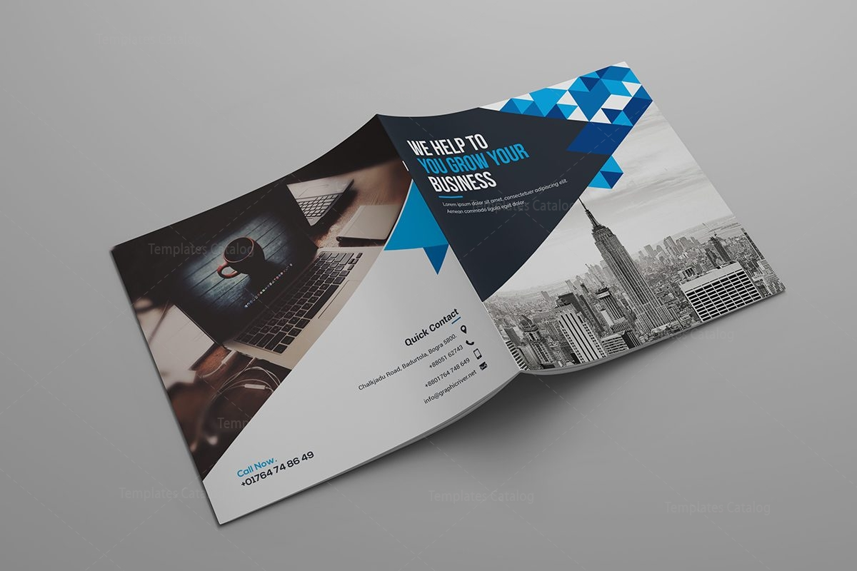 Hera corporate bi fold brochure template 000799 template for Corporate bi fold brochure template