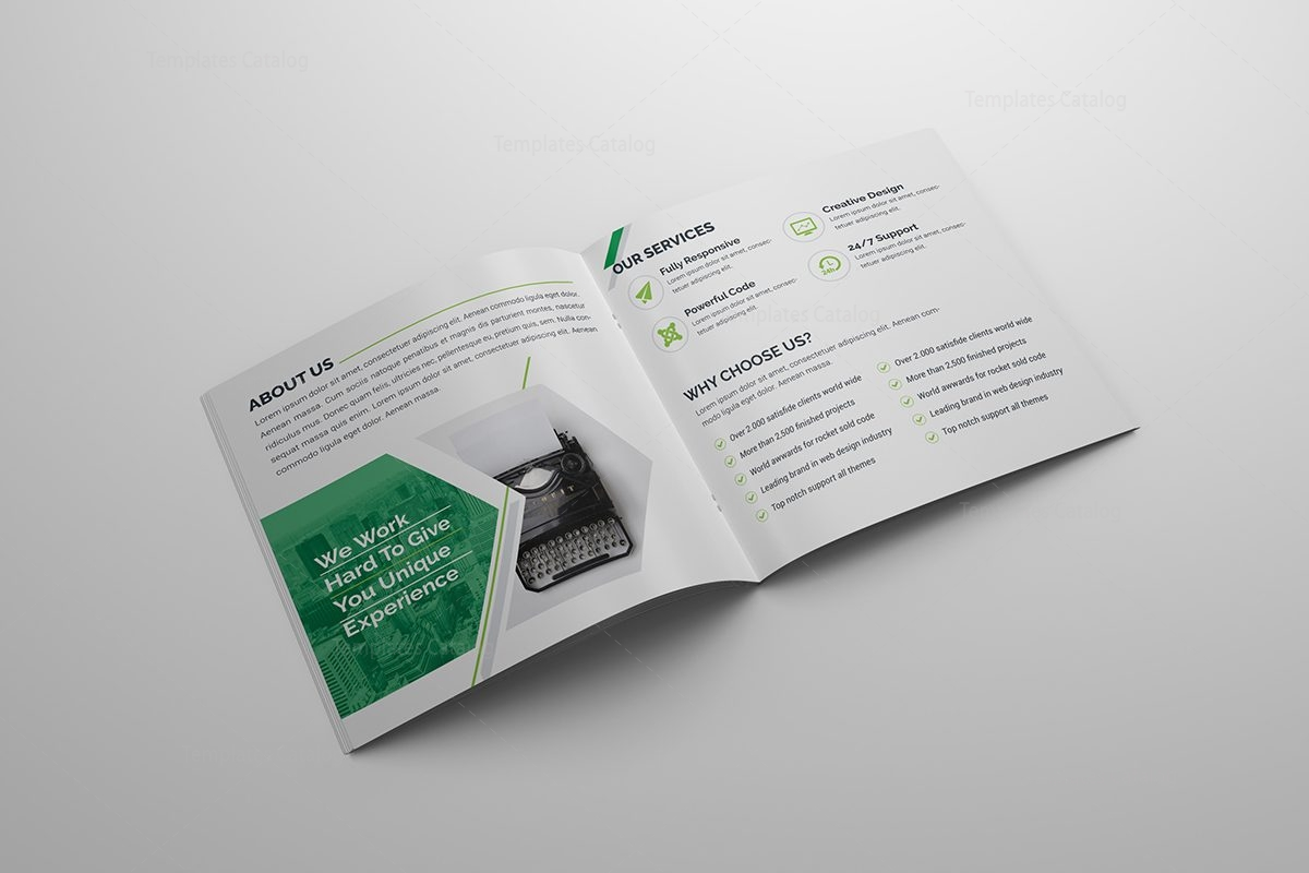 High Quality Corporate BiFold Brochure Template Template - Double fold brochure template
