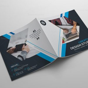 High Quality Corporate Bi-Fold Brochure Template