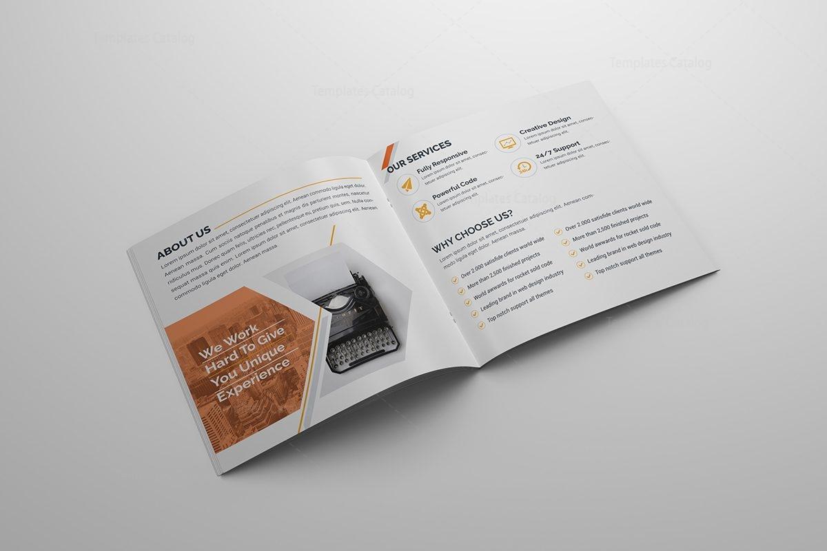 High Quality Corporate Bi-Fold Brochure Template 000795 - Template ...