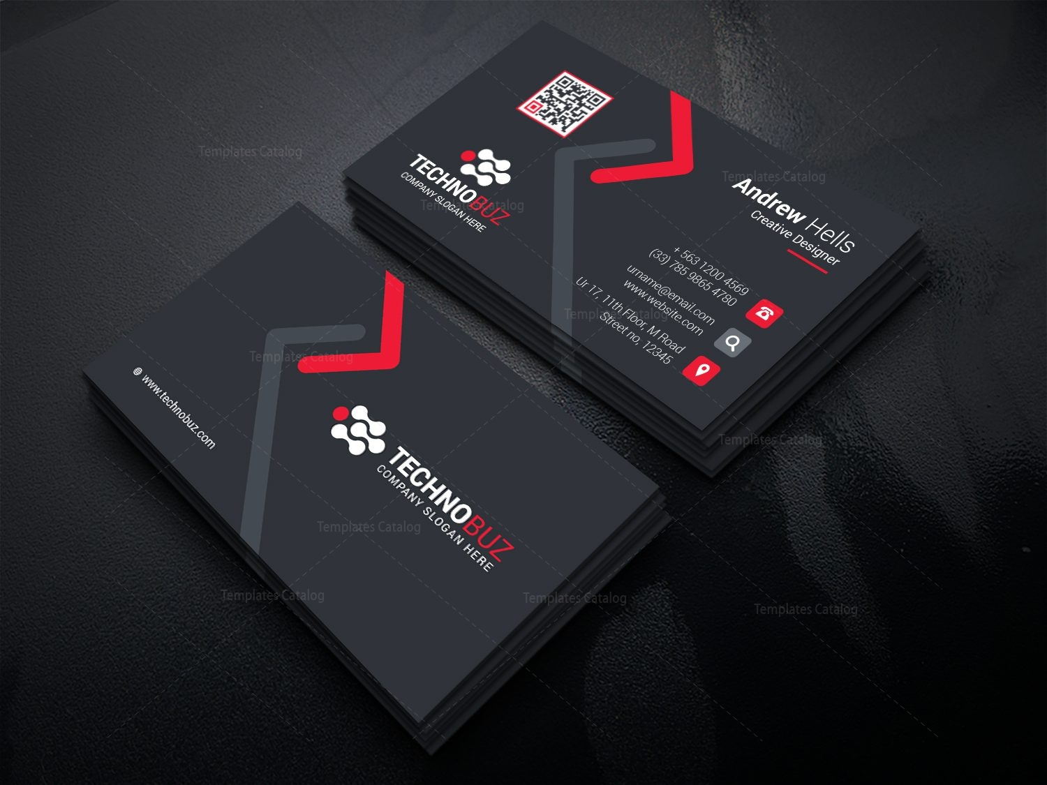High tech company business card template 000736 template catalog high tech company business card template cheaphphosting Images